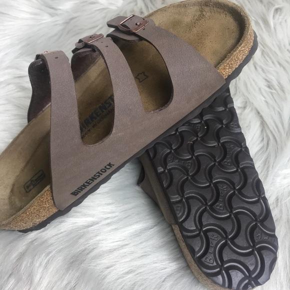 39a30666183 birkenstock Shoes - Birkenstock Florida Birkibuc Soft Footbed Mocha
